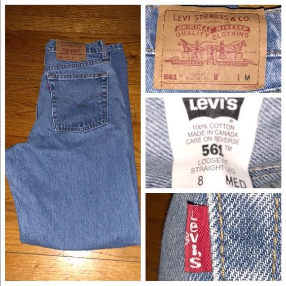 2f2ea9970bd Vtg Levi s 561 Loose Fit Straight Jeans Sz 8 Mis